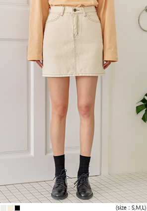 [SKIRT] RODBIN COTTON MINI SKIRT