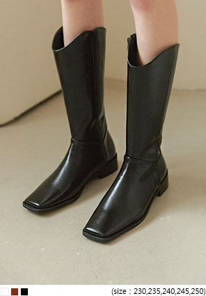 [SHOES] LENITY SQUARE WESTERN LONG BOOTS