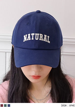 [ACC] NATURAL LETTERING BALL CAP
