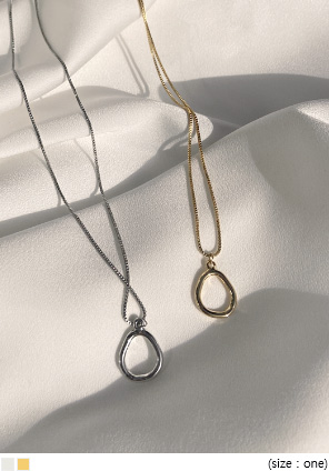 [JEWELRY] DELIAN OVAL PENDANT NECKLACE