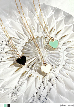 [JEWELRY] ELLALIN HEART PENDANT NECKLACE